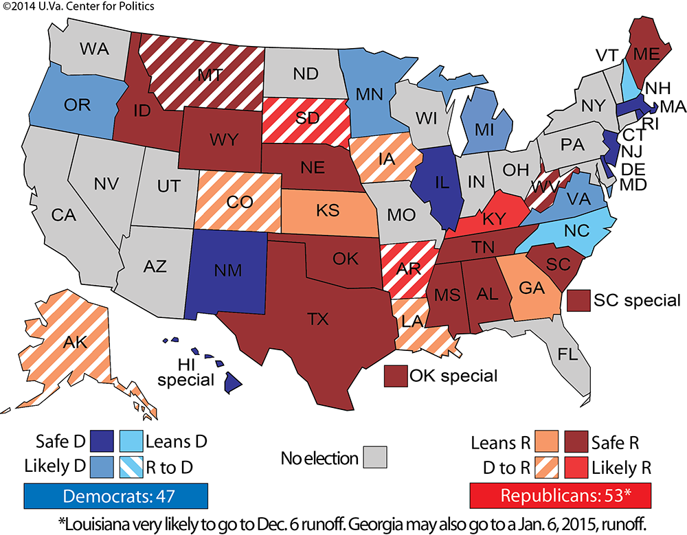 Republicans Now Control The US Senate Business Insider - Us congress election map