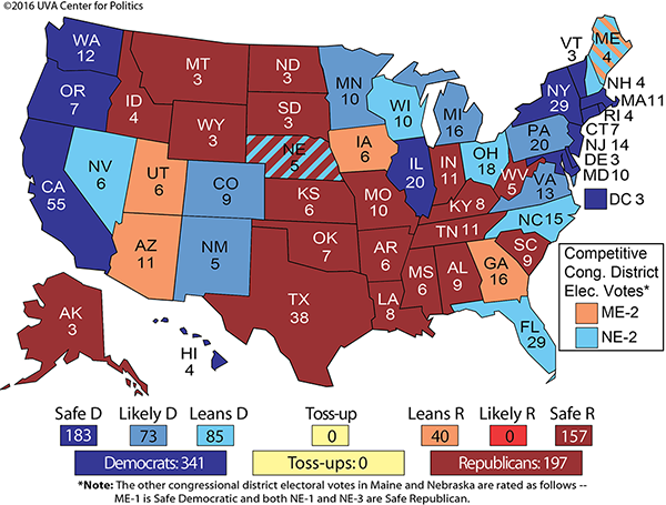 Larry J Sabato39s Crystal Ball  PRESIDENT 2016 GEORGIA