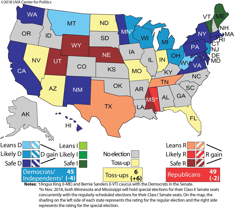 Larry j sabatos crystal ball 2018 senate 2018 crystal ball senate race ratings map freerunsca Choice Image