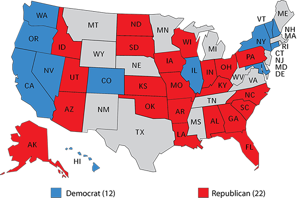 Map 3 Current Control Of Senate Class Iii Up For Election In 2022