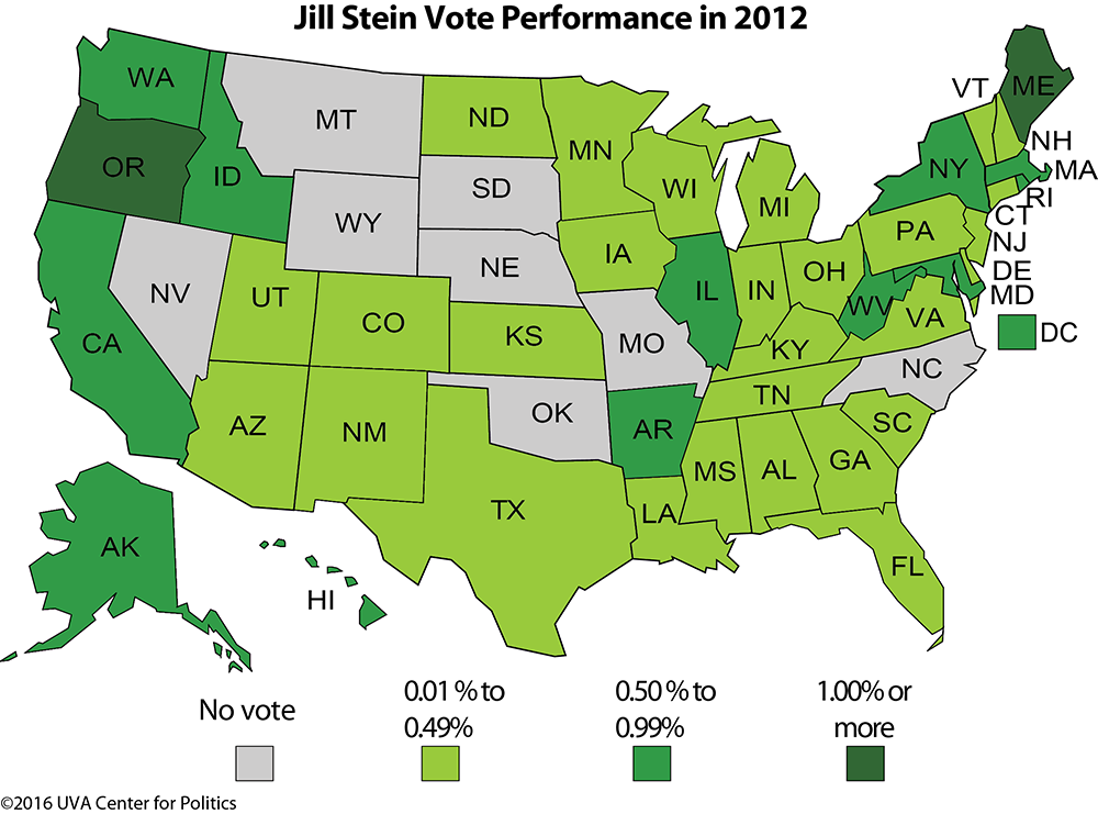 Tables 3 And 4 Gary Johnson And Jill Stein S Top 10 States In 2012