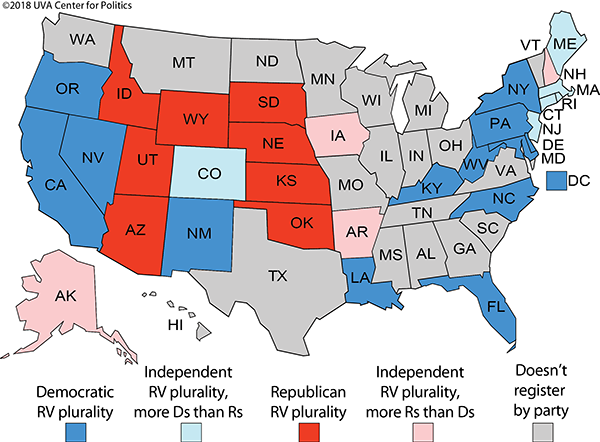 Registering By Party: Where the Democrats and Republicans ...