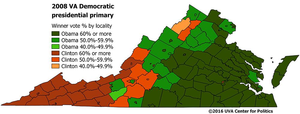 Map 5 2008 Virginia Democratic Presidential Primary