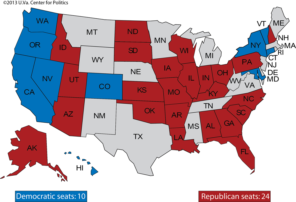 Larry J. Sabato\'s Crystal Ball » Senate 2014 and beyond