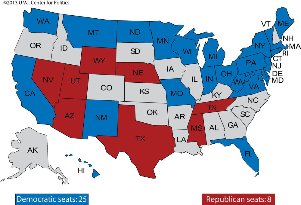 Larry J Sabatos Crystal Ball SENATE FLIP FLOP - Us map by congresina lolelection results