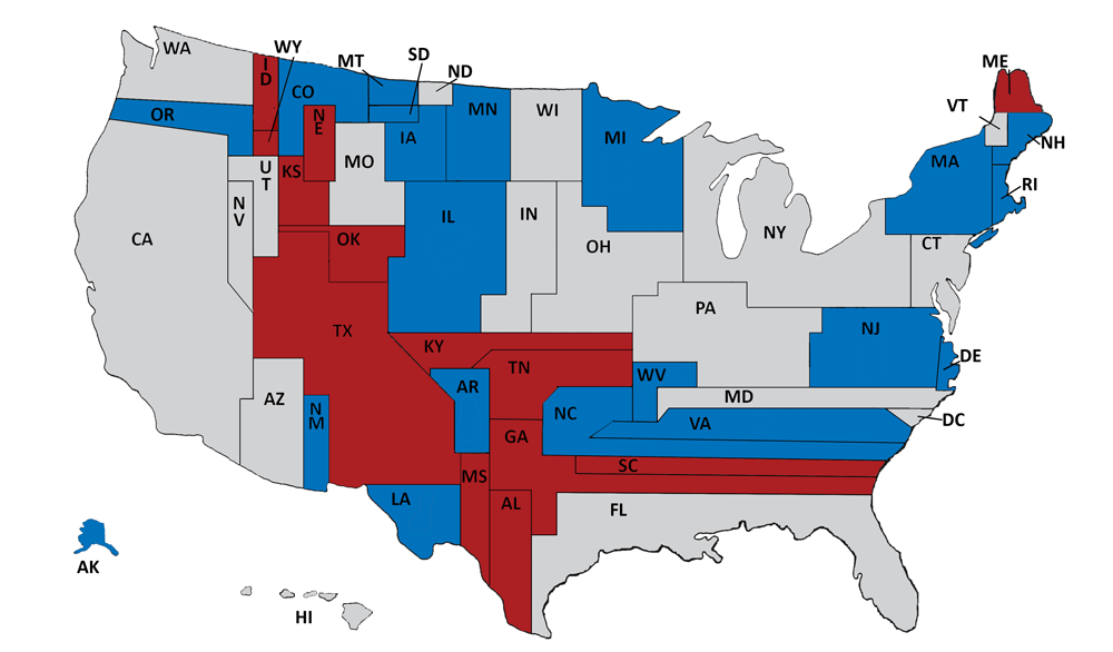 Larry J Sabatos Crystal Ball The Surprisingly Unrepresentative - Us-political-map-red-blue