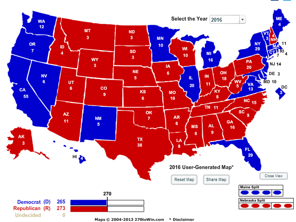 Larry J Sabatos Crystal Ball The Map Angles On The - Us presidential election voter map