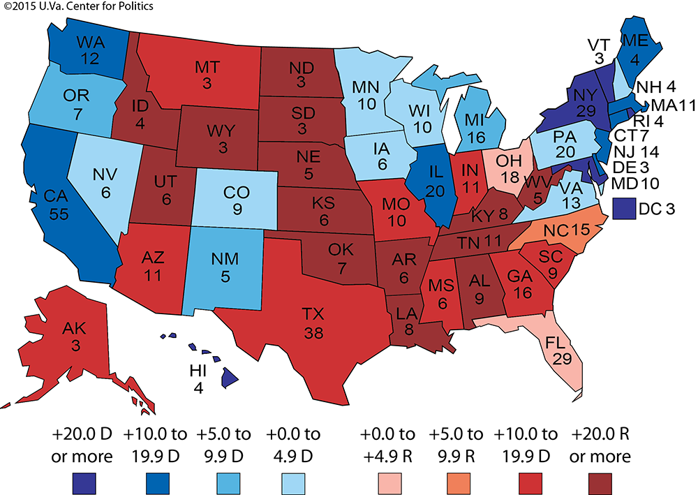2012 Presidential Election Results By State Map.Larry J Sabato S Crystal Ball The Map 11 Angles On The Electoral
