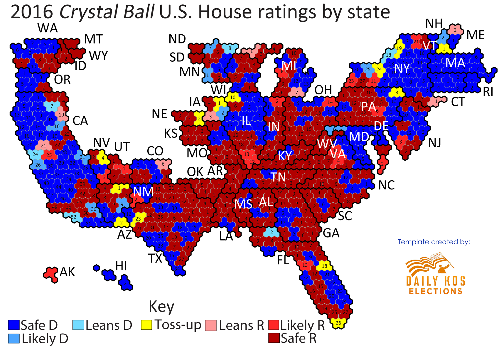 Larry J Sabatos Crystal Ball Mapping The Crystal Balls House - House pricing in us map