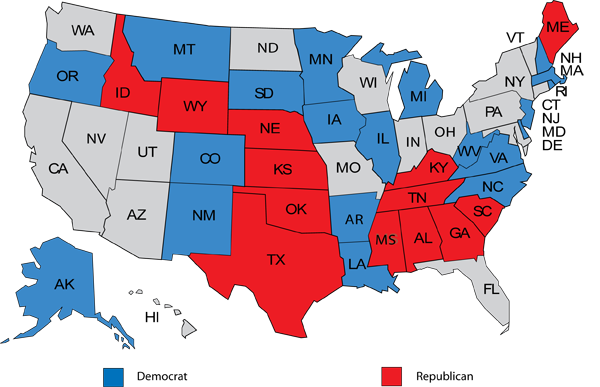 US Senate Seats Up For Election In 2014 Ford OConnell