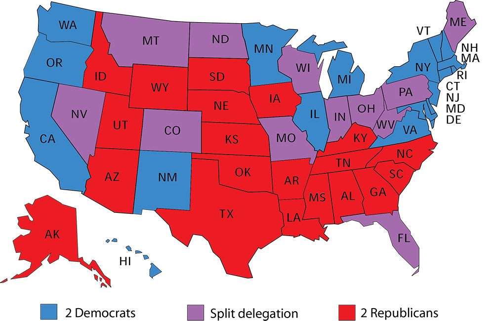Larry J Sabatos Crystal Ball - Us political party map by county purple