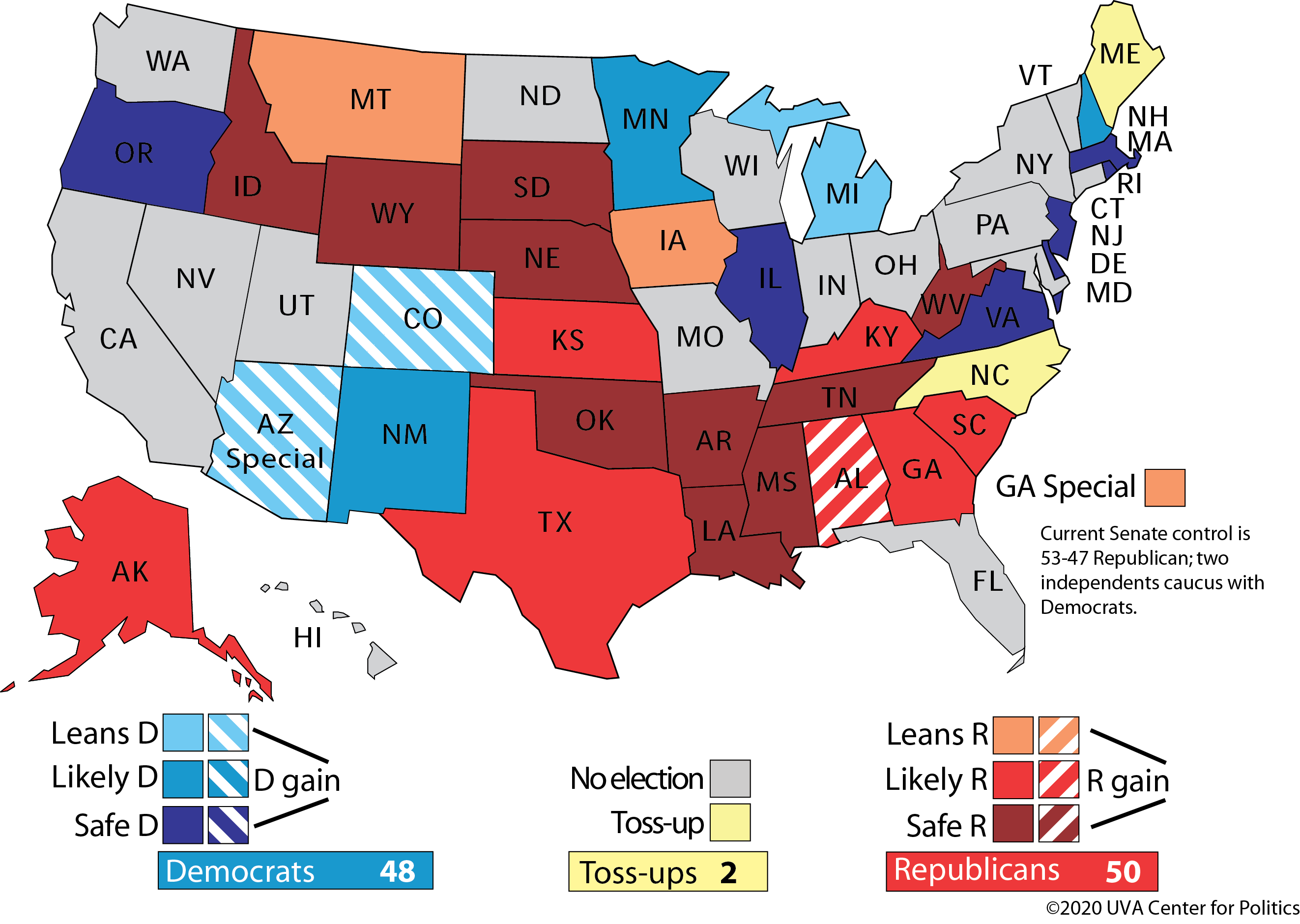 Image of: The Senate Looking Beyond The Core Four Sabato S Crystal Ball