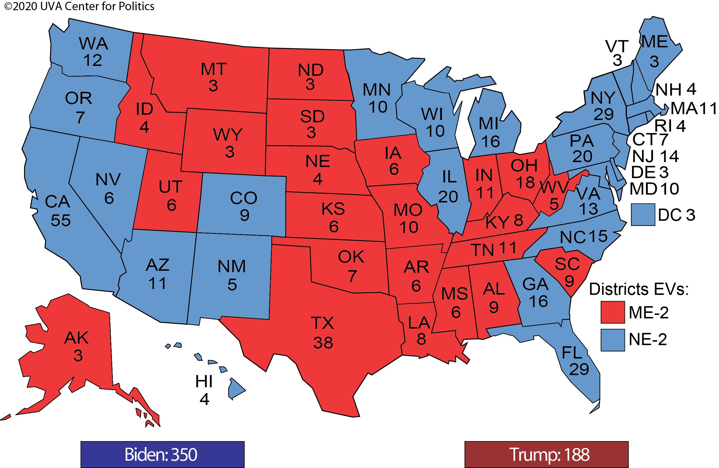 The Post Labor Day Sprint Part Two The Electoral College Sabato S Crystal Ball