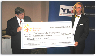 Center for Politics Receives Comcast Grant