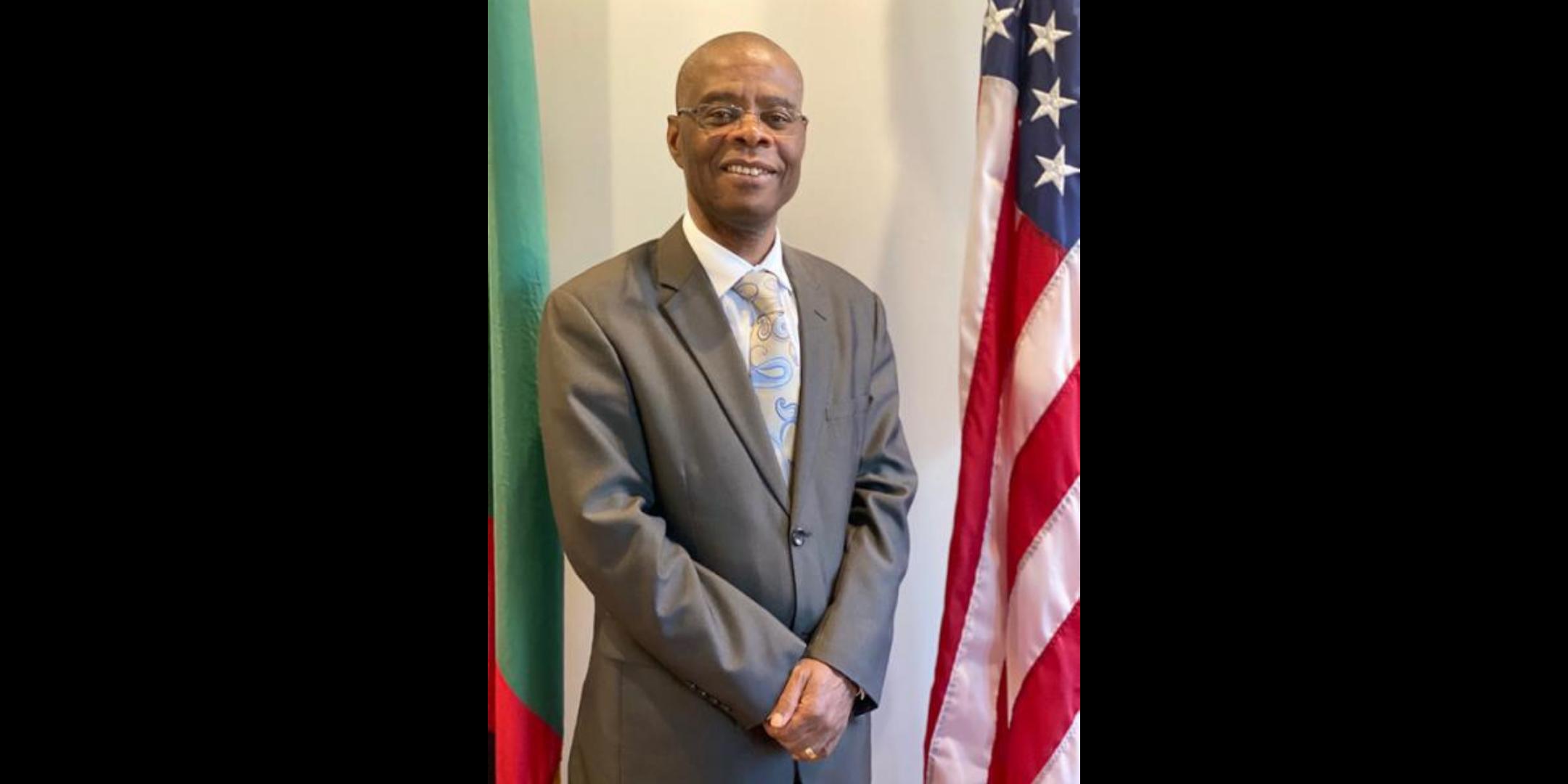 His Excellency Lazarous Kapambwe Ambassador of Zambia to the U.S.