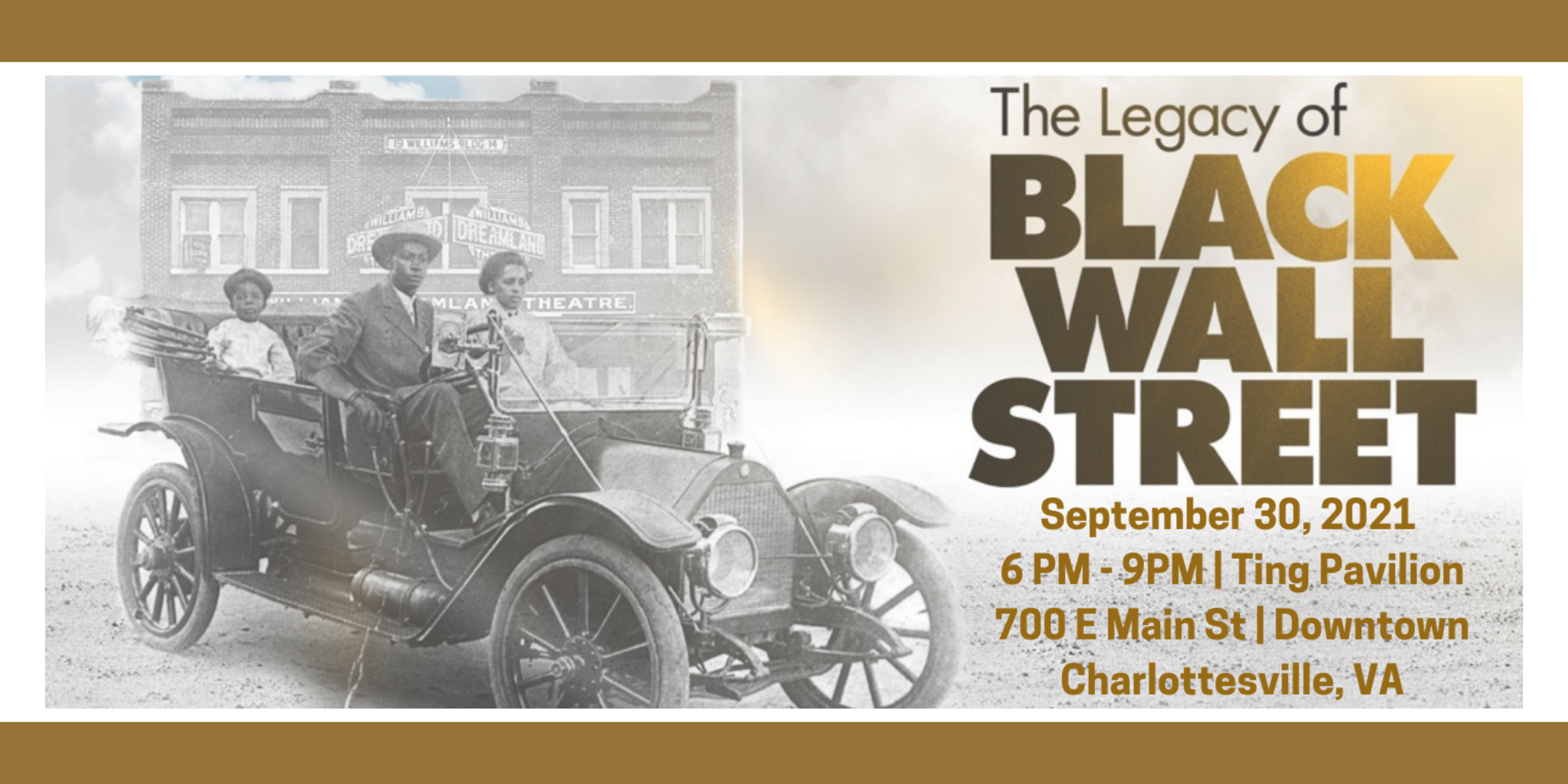 """UVA Center for Politics Screens Documentary """"The Legacy of Black Wall Street"""" on Downtown Mall"""